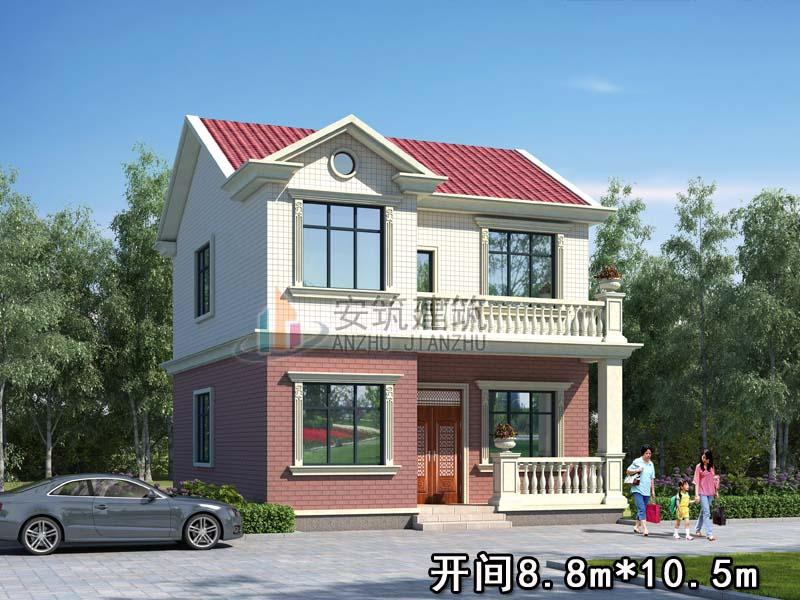 这款小面宽别墅设计图,层次感十足,外观精美住的也舒心