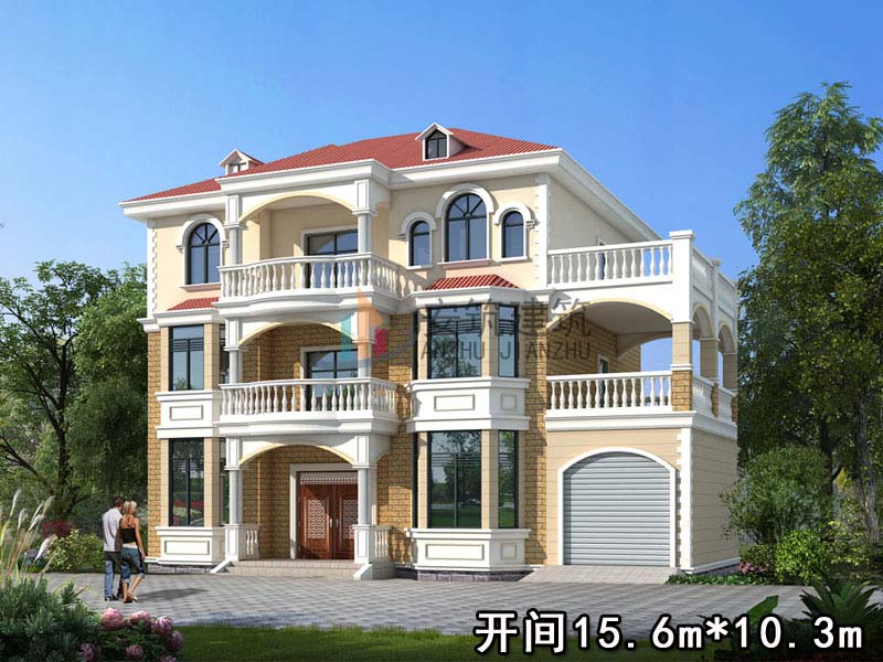 AZ118三层经典农村房屋设计图,新农村全套建筑施工图别墅设计图纸