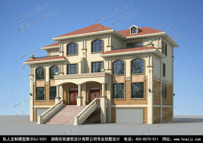 三层别墅设计图带地下室双拼别墅|别墅设计图纸|别墅