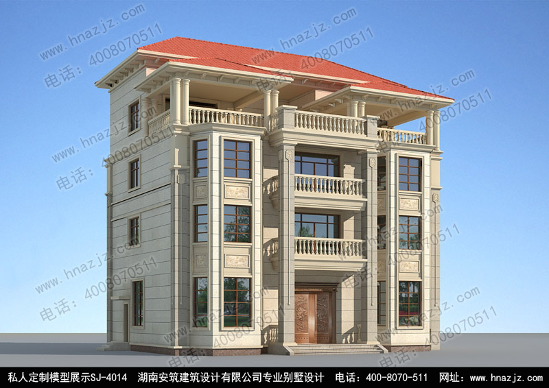 大气的四层碧桂园别墅,湖南安筑建筑别墅设计
