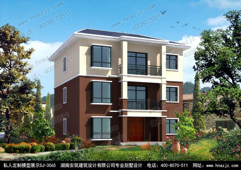 三层经济实用乡村别墅农村房屋设计图纸,安筑建筑