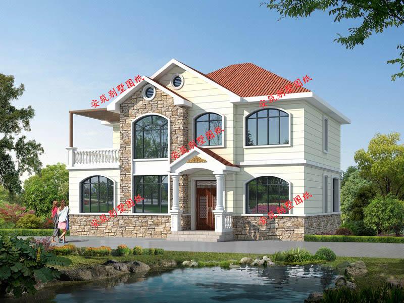 二十萬四開間新農村別墅設計圖,安筑別墅圖紙