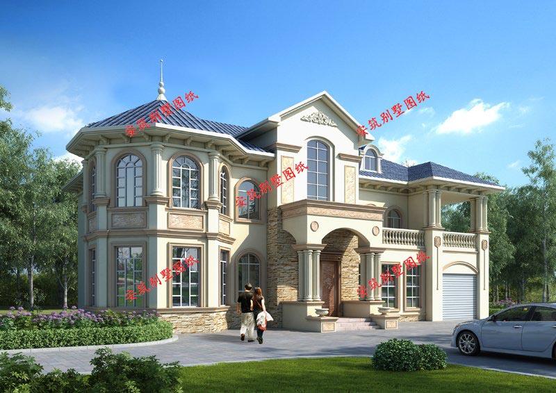 豪华大气欧式二层别墅设计图