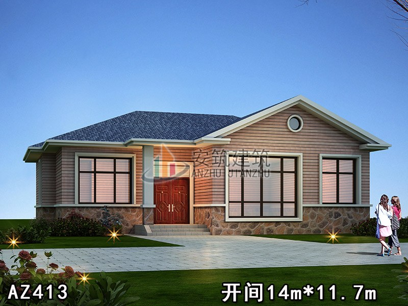 国家建筑强制性标准_农村一层平房房屋设计图,足足有五间卧室