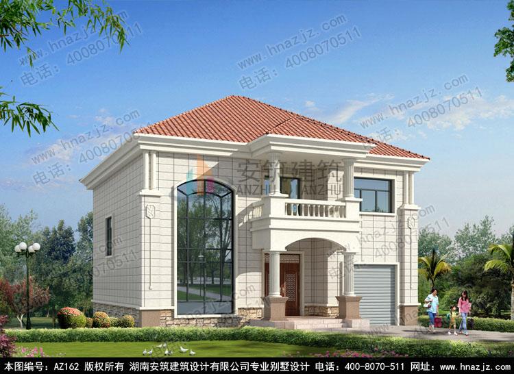 别墅设计图纸,二层农村自建房设计图,效果图施工图的页面,由湖南安筑