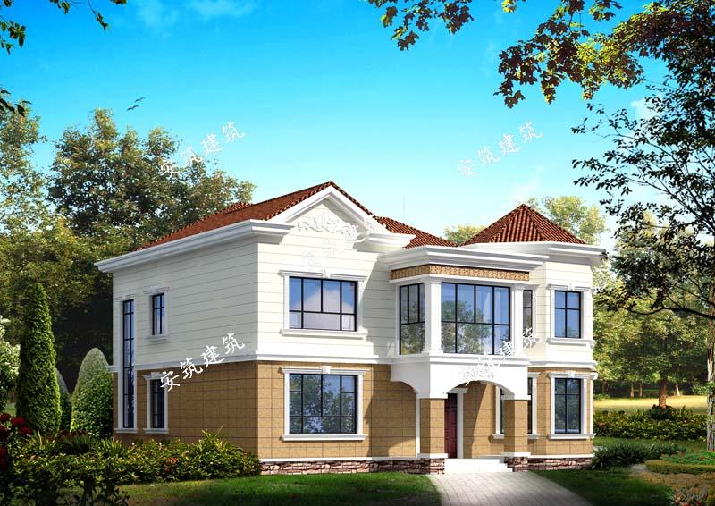 农村二层小户型别墅,斜坡屋顶|别墅设计图纸|别墅图纸
