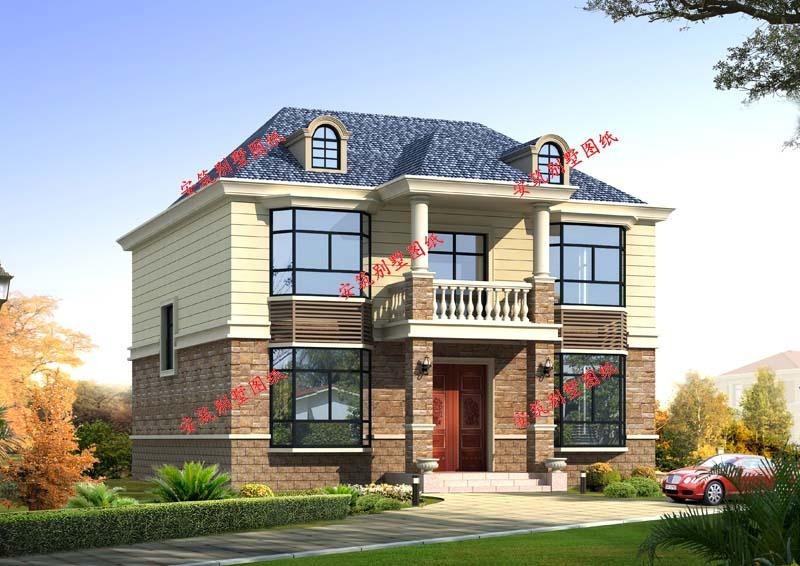 自建房10万以下两层别墅设计图,经济实用,简单精致
