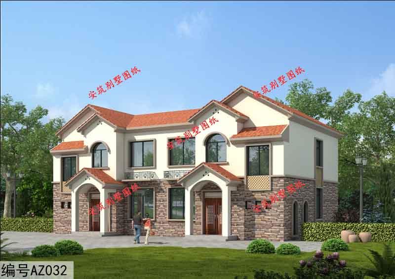 推荐6套农村二层楼房设计图,简约大气的农村小别墅