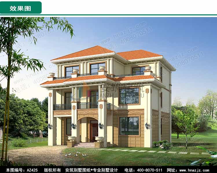 农村经济二层半房屋设计图,全套带水电图.jpg