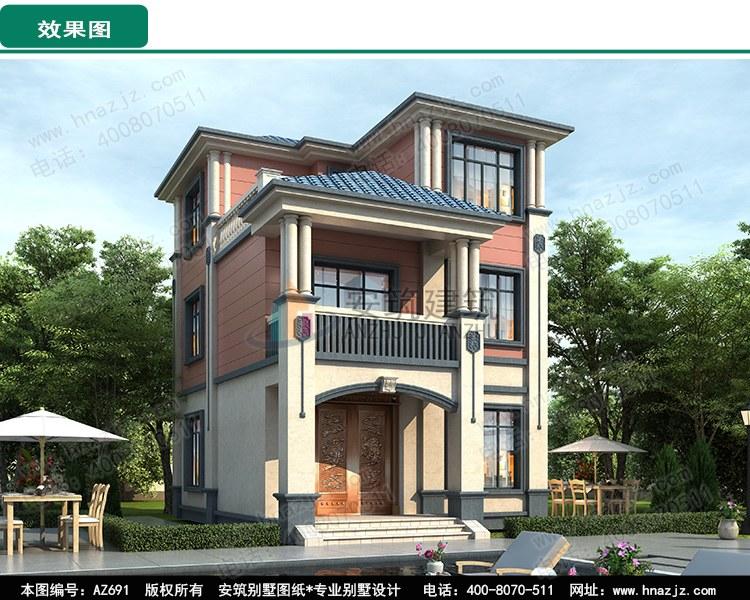 """新农村三层小别墅图片,好看又简单çš""""æ–°ä¸-式楼房设计图ço¸.jpg"""