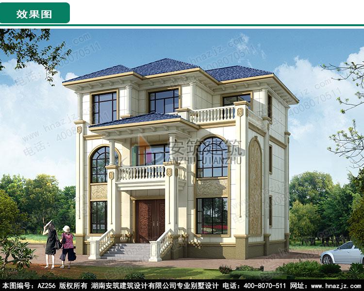 农村欧式30万豪华独栋三层别墅,外观漂亮带堂屋.jpg